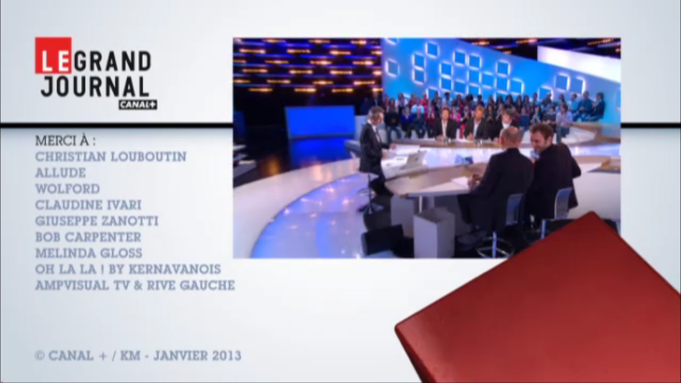 Bob Carpenter dans Le Grand Journal - Canal + - January 2013