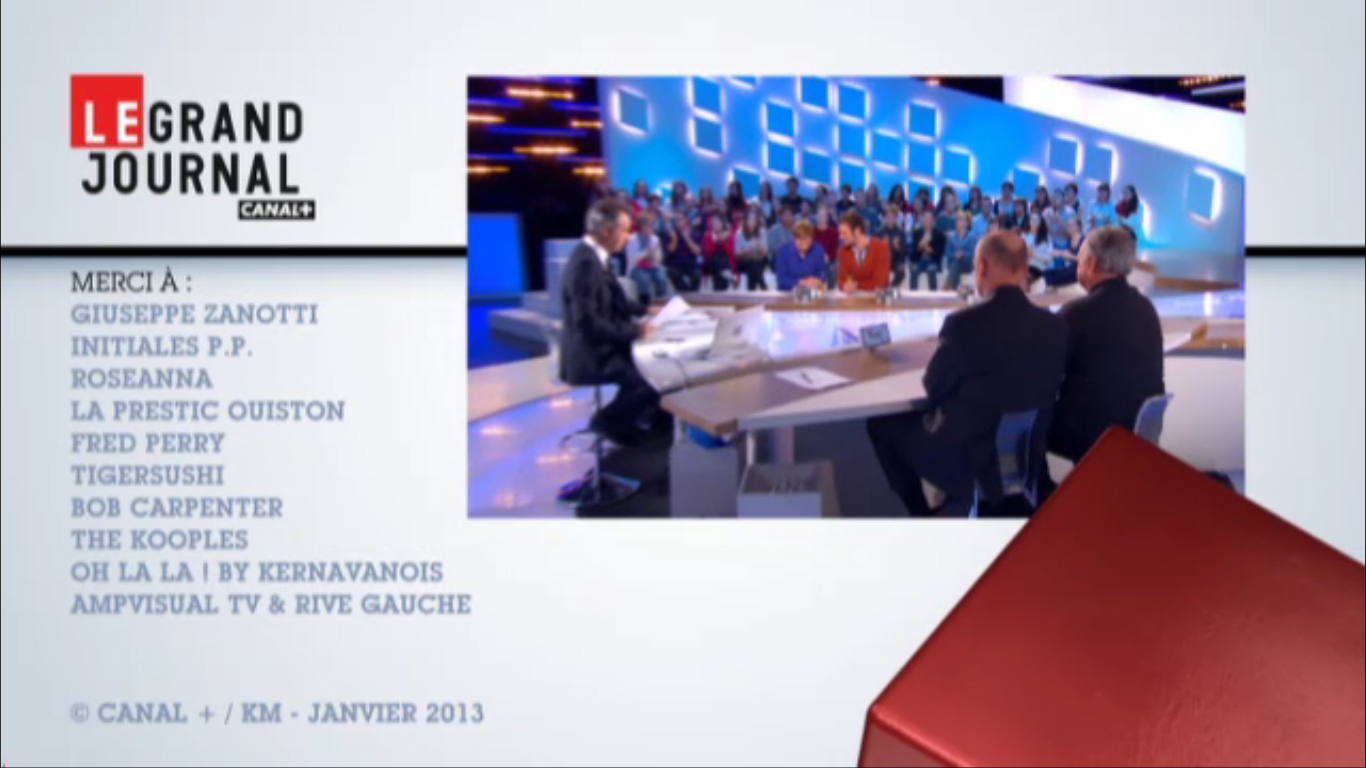 Bob Carpenter dans Le Grand Journal - Canal + - janvier 2013