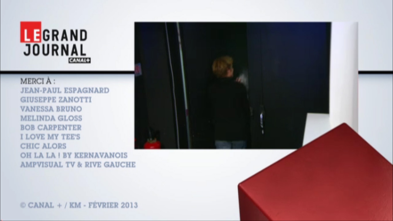 Bob Carpenter dans Le Grand Journal - Canal + - February 2013