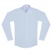chemise unisexe Bob Club en Oxford Bleu