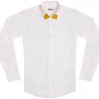 chemise unisexe Bob Col Jaune