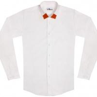 chemise unisexe Bob Col Orange