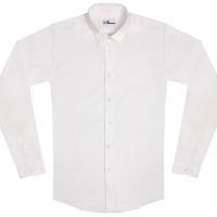 chemise unisexe Bob Col Blanc