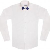 chemise unisexe Bob Col Bleu
