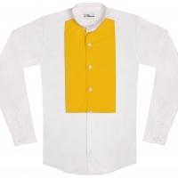 chemise unisexe Bob Plastron Jaune