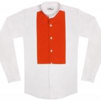 chemise unisexe Bob Plastron Orange