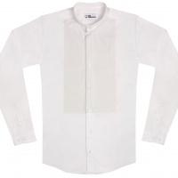 chemise unisexe Bob Plastron Blanc