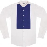 chemise unisexe Bob Plastron Bleu