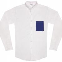 chemise unisexe Bob Poche Bleue