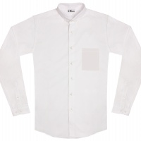 chemise unisexe Bob Poche Blanche